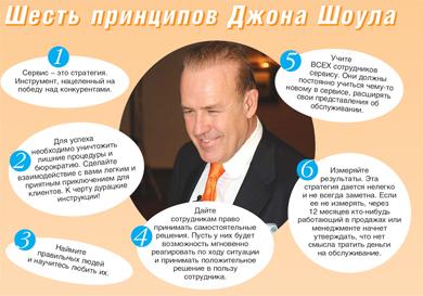 6 принципов сервиса Джона Шоула